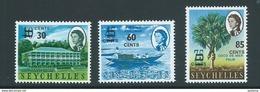 Seychelles 1968 Surcharge Set Of 3 MNH - Seychelles (...-1976)