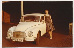 VOITURE AUDI ANCIENNEMENT AUTO ,CAR, Woman, Old Photo - Automobile
