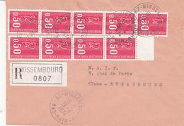 Env Reco Affr Y&T 1664 X 9 Obl WISSEMBOURG Du 19.4.1974 Adressée à Strasbourg - Elsass-Lothringen