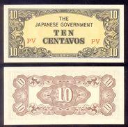 Philippines 10 Centavos ND (1942)  P104a  UNC - Philippines