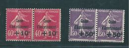France Caisse D'amortissement  De 1930  N°266 Et 268  En Paire  Neufs ** Sans Charnière  Cote 570 € - Caisse D'Amortissement