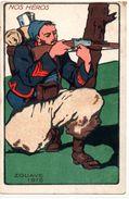 Militaria : Illustrateur : Nos Héros, Zouave 1915 - Personnages