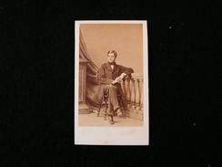 Cpa Ancienne Photo Cdv Auguste Daubrée Geologue Speleologue Membre De L'academie Des Sciences Disderi - Photos