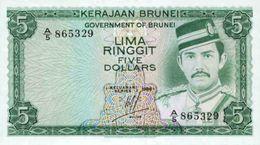 Brunei 5 Dollars 1986 Pick 7b UNC - Brunei
