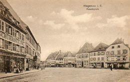 CPA -HAGUENAU (67) -Aspect De La Place D'Armes (Paradeplatz) - Restaurant S Au Tigre - Chez Cambrinus , Brasserie - Haguenau
