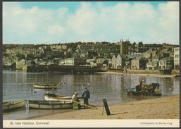 The Harbour, St Ives, Cornwall, 1980 - Murray King Postcard - St.Ives