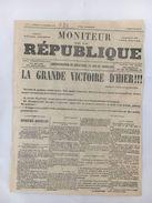 Moniteur De La République - Numéro 1 - 25 Septembre 1870 - Journaux - Quotidiens