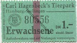 Deutschland - Hamburg-Stellingen - Carl Hagenbeck 's Tierpark - Eintrittskarte Erwachsene - Tickets D'entrée