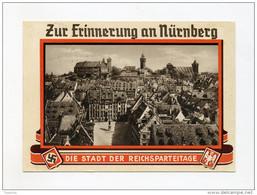 1935 3. Reich Farbkarte Zur Erinnerung An Nürnberg Stadt Der Reichsparteitage Mit Mi 586 Echt Gelaufen - Germania