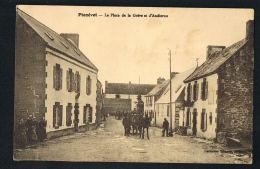 PLOZEVET - Finistère- La Place De La Grève D'Audierne - Animée -voyagée 1948-Recto Verso-Paypalsans Frais - Plozevet