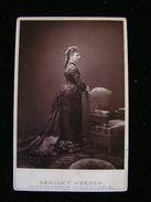 Cpa Ancienne Photo Cdv Princesse Eugenie De Chimay 17 Cm Par 10,6 Cm - Photos