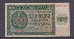 EDIFIL 421a.  100 PTAS 21 DE NOVIEMBRE DE 1936. SERIE F.  CONSERVACIÓN - [ 3] 1936-1975 : Regency Of Franco