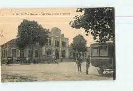 BOURGOIN -  La Gare Animée - Les Autobus - 2 Scans - Bourgoin