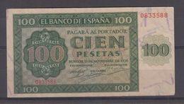EDIFIL 421a.  100 PTAS 21 DE NOVIEMBRE DE 1936 SERIE O, CONSERVACIÓN EBC+ - 100 Pesetas