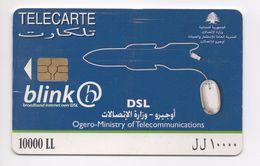 Blink Blue 2007 Used Phonecard  Lebanon , Liban Telecarte  Libano - Lebanon