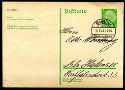 """German Empires1933 GS Hindenburg Medaillon Mi.Nr.P217 Mit Klaren Tagesstempel""""Berlin Oberschöneweide """"1 GS Used - Deutschland"""