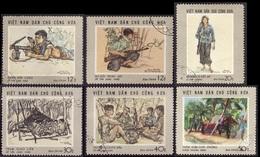 VIETNAM  Du Nord 1969 - YT 635 à 640  - La Série Complète - Ralliement - Oblitérés - Cote 4.50e - Viêt-Nam