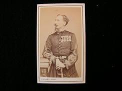 Cpa Ancienne Photo Cdv  Colonel Colasse Zouave Saphis Armée Napoleon Officier Militaire Klary Alger Eleve Nadar - Photos