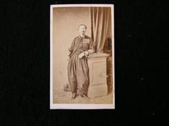 Cpa Ancienne Photo Cdv Colonel Colasse Zouave Spahis Mehariste Armée Napoleon Officier Militaire Meurisse Metz - Photos