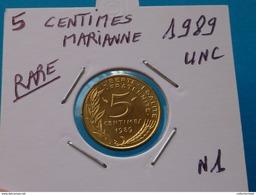 RARE ***  5 CENTIMES MARIANNE 1989 - 4 Plis  Unc  ( 2 Photos ) - France