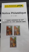 COTE D'IVOIRE IVORY COAST 2001 - CONGRES DE L'UPU - NOTTICE PHILATELIQUE PHILATELIC LEAFLET - Ivory Coast (1960-...)
