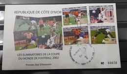COTE D'IVOIRE IVORY COAST 2002 - FDC - WORLD CUP COUPE MONDE SOCCER FOOTBALL KOREA COREE JAPAN 2002 - Ivory Coast (1960-...)
