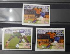 COTE D'IVOIRE IVORY COAST 2002 - IMPERF ND - SHORT SET 3/4- WORLD CUP COUPE MONDE SOCCER FOOTBALL KOREA COREE JAPAN 2002 - Ivory Coast (1960-...)