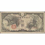 TWN - CHINA M19a - 10 Yen 1940 Block 6 - 499826 F/VF - China