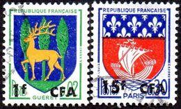 Réunion Obl. N° 350 A Et 342 - Armoiries  - Blasons Paris Et Gueret - Réunion (1852-1975)