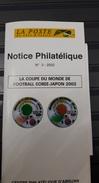 COTE D'IVOIRE IVORY COAST 2002  - NOTTICE PHILATELIQUE PHILATELIC LEAFLET- SOCCER WORLD CUP FOOTBALL COUPE MONDE - Ivory Coast (1960-...)