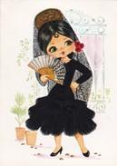 (Alb 1.2) Cartes Postale Habillée Ou Brodée (Possibilité De Joindre Deux Cartes Pour Moins De 20 Gr) - Cartes Postales