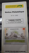COTE D'IVOIRE IVORY COAST 2003  - NOTTICE PHILATELIQUE PHILATELIC LEAFLETIQUE - CHINA RELATION RELATIONS 20 TH ANNIV. - Ivory Coast (1960-...)