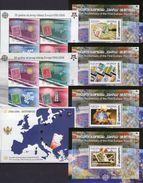EUROPA Stamps On Stamp Georgia Blocks 35-38,CRNA GORA Bl.2 A+B,3 ** 137€ Kunst Hb Blocs Art Sheets Bf 50 Years CEPT - Géorgie
