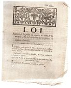Loi Sur La Peine De Mort ,à Celle De La Marque & à L'exécution Des Jugemens En Matière Criminelle.1791.AMIENS Imp CARON - Décrets & Lois