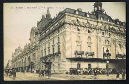 PARIS - Nouvelle Gare D'Orléans  Edit CLC 157- Attelages -   Paypal Sans Frais - Métro Parisien, Gares
