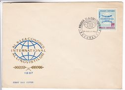 M121 International Linguist Congress Linguiste 1967 FDC Romania - Talen