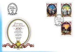Latvia Lettland Lettonie 2017 (18) 100th Anniversary Of Republic Of Latvia - Science - Owl (unaddressed FDC) - Latvia