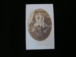 Cpa Ancienne Photo Cdv Madame Daubrée 1858 - Photos