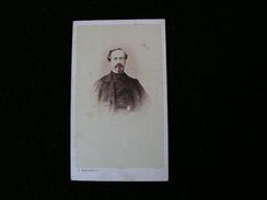 Cpa Ancienne Photo Cdv Monsieur Charles Malherbe Ancien Officier Dragon1863 - Photos