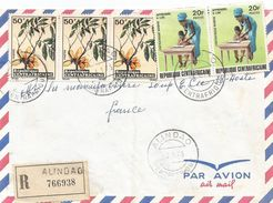 RCA CAR Centrafrique 1975 Alindao Tree Xylopia Fruit Illiteracy Registered Cover - República Centroafricana