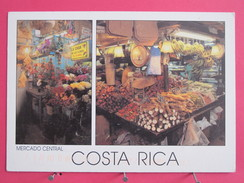 Costa Rica - San José - Mercado Central - Tramo De Flores Y Frutas Tropicales - Joli Timbre USA - Scans Recto-verso - Costa Rica