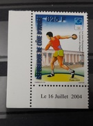COTE D'IVOIRE IVORY COAST 2004 -  - OLYMPIC GAMES JEUX OLYMPIQUES ATHENS ATHLATICS DISCUS LANCER DISQUE- MNH - Ivory Coast (1960-...)
