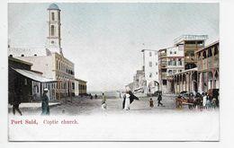 Port Said - Coptic Church - M. Rudmann & Fils 98 - Undivided Back - Port Said
