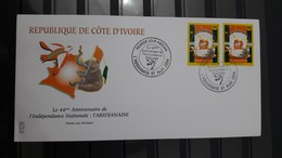 COTE D'IVOIRE IVORY COAST 2004 -  FDC - 44 TH ANNIV. INDEPENDENCE INDEPENDANCE ABIDJANAISE ELEPHANTS ELEPHANT- RARE - Ivory Coast (1960-...)