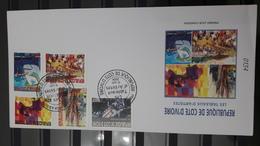 COTE D'IVOIRE IVORY COAST 2004 -  NOTTICE PHILATELIQUE PHILATELIC LEAFLET  - TABLEAUX D'ARTISTES ARTISTS PAINTINGS ART - Ivory Coast (1960-...)