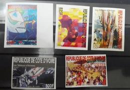 COTE D'IVOIRE IVORY COAST 2004 -  IMPERF IMPERFORATE ND NON DENTELE  - TABLEAUX D'ARTISTES ARTISTS PAINTINGS ART - MNH - Ivory Coast (1960-...)