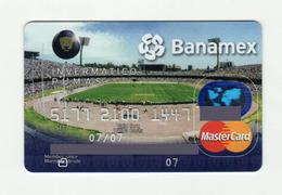 Banamex MEXICO Football Stadium Mastercard EXPIRED 2007 - Geldkarten (Ablauf Min. 10 Jahre)