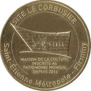 42 FIRMINY LE CORBUSIER SAINT-ÉTIENNE MÉDAILLE MONNAIE DE PARIS 2017 JETON MEDALS TOKEN COINS - Monnaie De Paris