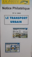 COTE D'IVOIRE IVORY COAST 2005 JOINT ISSUE - NOTTICE PHILATELIQUE  -  URBAN TRANSPORT URBAIN TRAIN TRAINS BUS BOAT - MNH - Ivory Coast (1960-...)