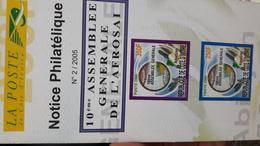 COTE D'IVOIRE IVORY COAST 2005 - NOTTICE PHILATELIQUE  -  ASSEMBLEE GENERALE AFROSAI GENERAL ASSEMBLY - Ivory Coast (1960-...)